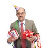 Hombre de negocios y día de fiesta. Foto de archivo libre de regalías