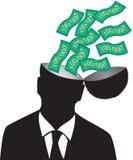 Hombre de negocios y dinero Imagen de archivo
