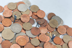 Hombre de negocios y dinero del euro Fotos de archivo libres de regalías