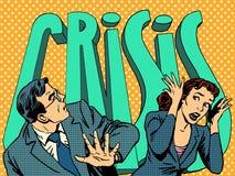 Hombre de negocios y empresaria en el pánico del ilustración del vector