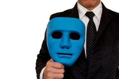 Hombre de negocios y máscara fotografía de archivo