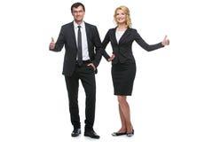 Hombre de negocios y mujer de negocios foto de archivo libre de regalías