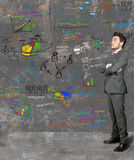 Hombre de negocios y nueva idea Fotografía de archivo libre de regalías