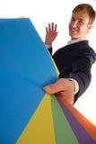 Hombre de negocios y papel Imagenes de archivo