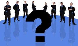 Hombre de negocios y question-2 stock de ilustración