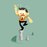 Hombre de negocios y situación del riesgo, gestión de riesgos Imagen de archivo