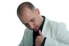 Hombre de negocios y su bolsillo Fotografía de archivo