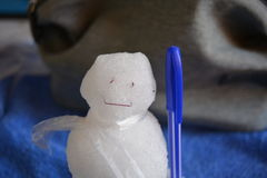 Hombre de nieve Foto de archivo libre de regalías