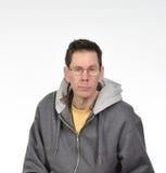Hombre de ojos verdes con los vidrios Foto de archivo