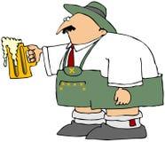 Hombre de Oktoberfest con una taza de cerveza Fotos de archivo libres de regalías