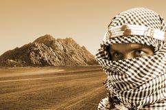 Hombre de Oriente Medio serio Imágenes de archivo libres de regalías