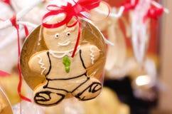 Hombre de pan de jengibre Foto de archivo libre de regalías