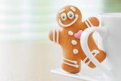 Hombre de pan de jengibre divertido imagen de archivo libre de regalías