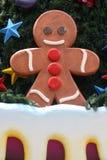 Hombre de pan de jengibre en el árbol de navidad Imagen de archivo libre de regalías