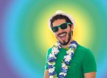 Hombre de partido preparado para el carnaval Foto de archivo