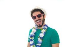 Hombre de partido preparado para el carnaval Foto de archivo libre de regalías