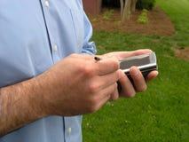 Hombre de PDA fotos de archivo