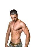 Hombre de pecho desnudo atractivo Imagenes de archivo
