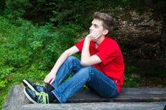 Hombre de pensamiento joven Fotos de archivo
