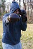 Hombre de perforación Imagen de archivo libre de regalías