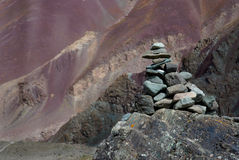 Hombre de piedra en Stok Kangri Imagenes de archivo