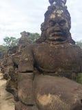 Hombre de puente de piedra antiguo Fotografía de archivo libre de regalías