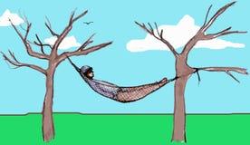 Hombre de reclinación Foto de archivo