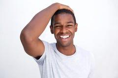Hombre de risa del afroamericano Fotos de archivo