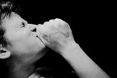 Hombre de rogación - dolor en cara Imagen de archivo