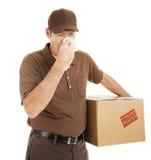 Hombre de salida con frío Foto de archivo libre de regalías