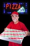 Hombre de salida joven de la pizza Foto de archivo