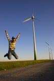 Hombre de salto Imagen de archivo libre de regalías