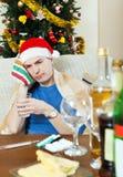 Hombre de Sikc en sombrero rojo del Año Nuevo Fotos de archivo libres de regalías