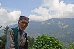 Hombre de Sindhupalchowk, Nepal fotos de archivo