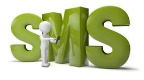 Hombre de SMS Imagen de archivo libre de regalías