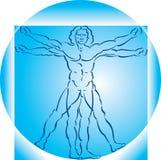 Hombre de Vitruvian stock de ilustración