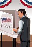 Hombre de votación Fotografía de archivo libre de regalías