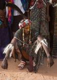 Hombre de Wodaabe en Gerewol, curación Salee, Niger Imagenes de archivo