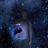 Hombre de Yin Yang Star Fotos de archivo