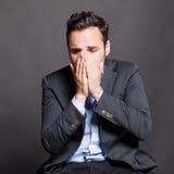 Hombre decepcionante Fotos de archivo libres de regalías