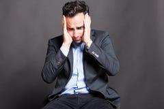 Hombre decepcionante Foto de archivo libre de regalías