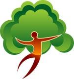 Hombre del árbol Foto de archivo libre de regalías
