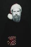 Hombre del Año Nuevo en sombrero Fotos de archivo libres de regalías