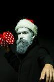 Hombre del Año Nuevo en sombrero Imagenes de archivo