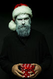 Hombre del Año Nuevo en sombrero Fotos de archivo