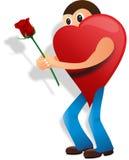 Hombre del amor, día de San Valentín, corazón Imagenes de archivo
