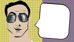 Hombre del arte pop Imagen de archivo libre de regalías