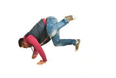 Hombre del bailarín del Freestyler Fotografía de archivo libre de regalías