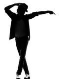 Hombre del baile del bailarín del canguelo del salto de la cadera Foto de archivo libre de regalías