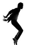 Hombre del baile del bailarín del canguelo del salto de la cadera Imagen de archivo libre de regalías